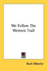 Cover of: We Follow The Western Trail