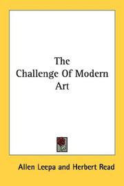 Cover of: The challenge of modern art