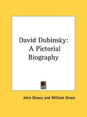 Cover of: David Dubinsky: a pictorial biography