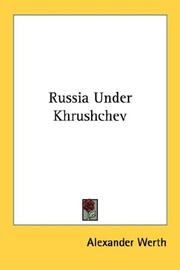 Cover of: Russia Under Khrushchev