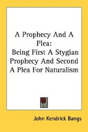 Cover of: A prophecy and a plea