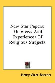 Cover of: New Star Papers | Henry Ward Beecher