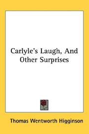 Cover of: Carlyle's laugh, and other surprises