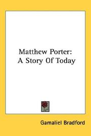 Cover of: Matthew Porter: A Story Of Today