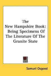Cover of: The New Hampshire Book | Samuel Osgood