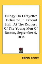 Cover of: Eulogy on Lafayette