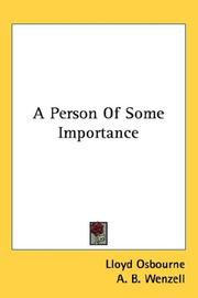 Cover of: A person of some importance