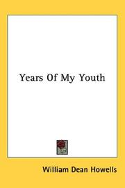 Cover of: Years Of My Youth | William Dean Howells