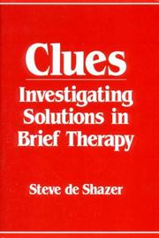 Cover of: Clues | Steve De Shazer