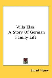 Cover of: Villa Elsa | Stuart Henry