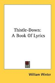 Cover of: Thistle-Down | William Winter