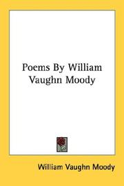 Cover of: Poems By William Vaughn Moody | William Vaughn Moody