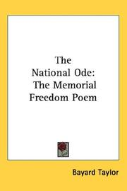 Cover of: The  national ode: The Memorial Freedom Poem