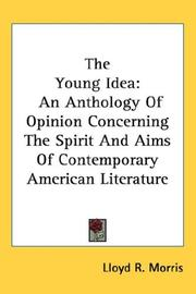 Cover of: The Young Idea | Lloyd R. Morris