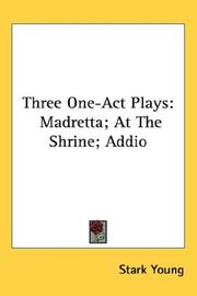 Cover of: Three One-Act Plays