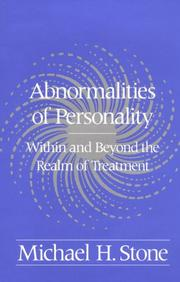 Cover of: Abnormalities of personality | Michael H. Stone