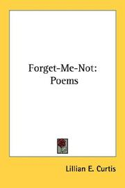 Cover of: Forget-Me-Not | Lillian E. Curtis
