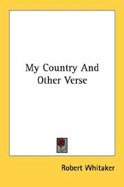 Cover of: My Country And Other Verse
