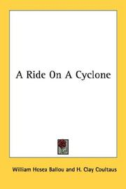 Cover of: A Ride On A Cyclone | William Hosea Ballou