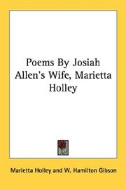 Cover of: Poems By Josiah Allen