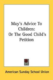 Cover of: May's Advice To Children