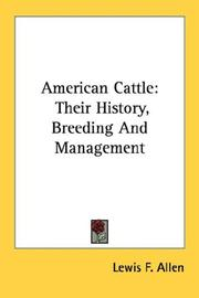 American cattle by Lewis F. Allen