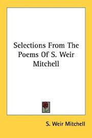 Cover of: Selections From The Poems Of S. Weir Mitchell