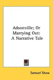 Cover of: Adsonville; Or Marrying Out
