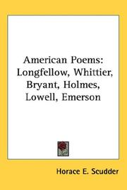 Cover of: American Poems