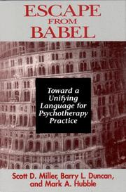 Cover of: Escape from Babel by Scott D. Miller