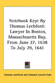 Cover of: Notebook Kept By Thomas Lechford | Thomas Lechford