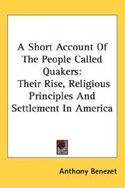 Cover of: A short account of the people called Quakers