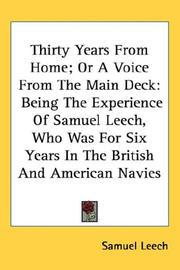 Cover of: Thirty years from home, or A voice from the main deck