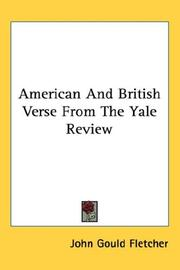 Cover of: American And British Verse From The Yale Review