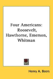 Cover of: Four Americans | Henry A. Beers