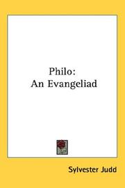 Cover of: Philo | Sylvester Judd