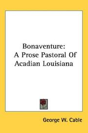 Cover of: Bonaventure