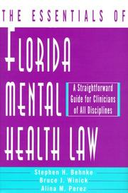 Cover of: The essentials of Florida mental health law