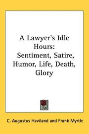 Cover of: A Lawyer