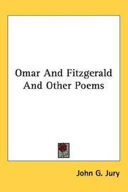 Cover of: Omar And Fitzgerald And Other Poems