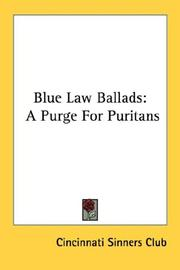 Blue law ballads by Sinners Club, Cincinnati.