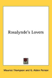 Cover of: Rosalynde's lovers