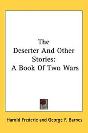 Cover of: The Deserter And Other Stories | Harold Frederic