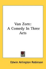 Cover of: Van Zorn