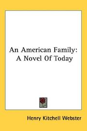 Cover of: An American Family | Henry Kitchell Webster