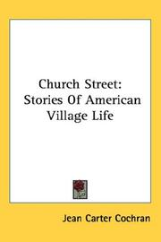 Cover of: Church Street | Jean Carter Cochran