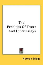 The Penalties Of Taste