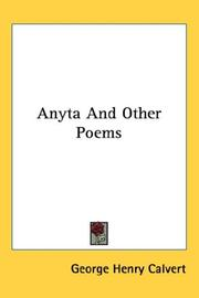 Cover of: Anyta And Other Poems