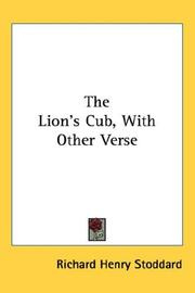 Cover of: The Lion's Cub, With Other Verse