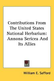 Cover of: Contributions From The United States National Herbarium | William E. Safford